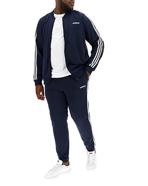 ffc0a057ce64 adidas Back to Basics 3 Stripe Tracksuit | J D Williams