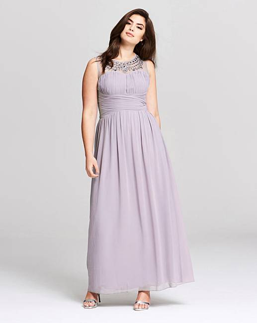 7e0e620f78c Little Mistress Chiffon Maxi Dress