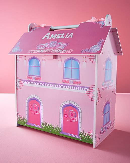 Personalised Wooden Mini Dolls House J D Williams