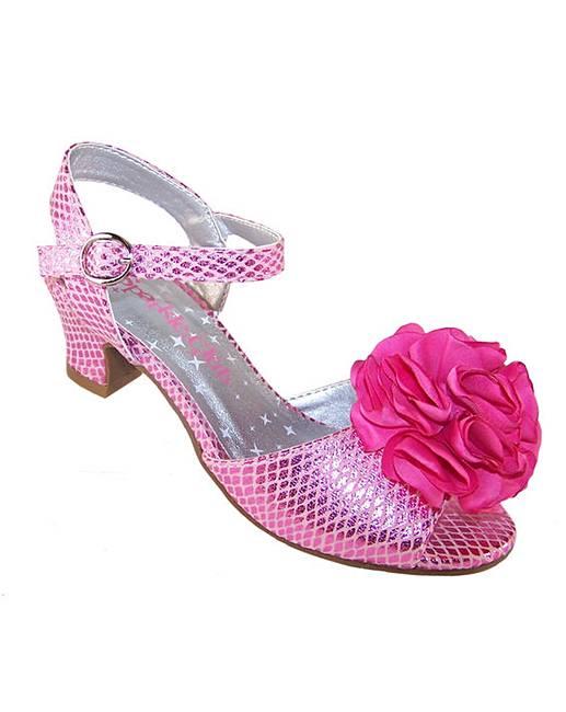 Sparkle Club Pink Heeled Shoes Fashion World