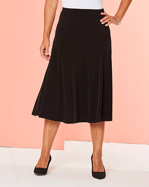 Cheap Plain Jersey Panelled Skirt L27in free shipping
