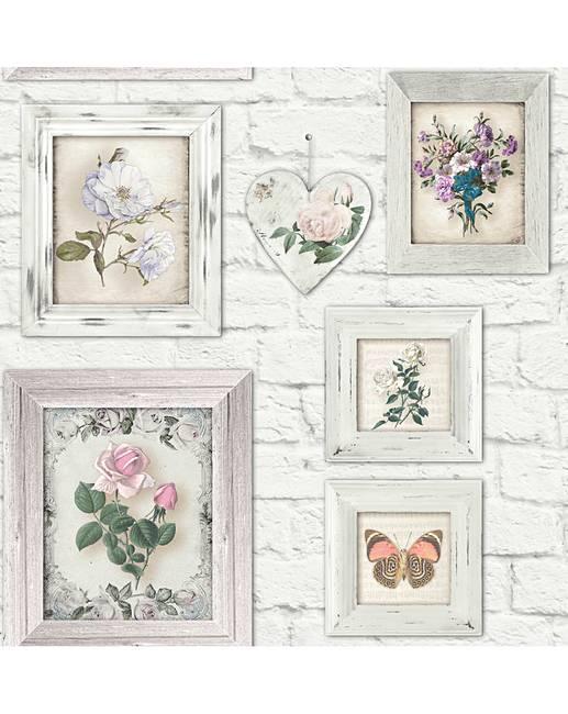 Fresco Brick Floral Frames   J D Williams