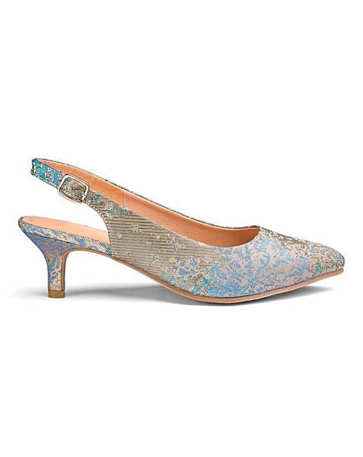 f842718b044 Flexi Sole Kitten Heel Shoes EEE Fit