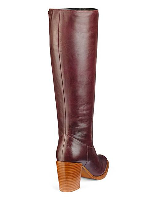 ce875fd90e2 Heavenly Soles Leather Knee High Boots Extra Wide EEE Fit Standard Calf.  Rollover image to magnify