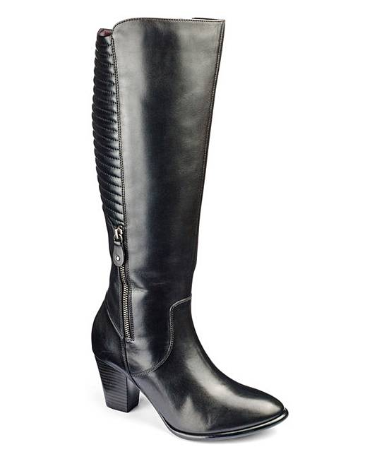 2ae334ed4b8 Heavenly Soles Leather Knee High Boots Extra Wide EEE Fit Standard Calf