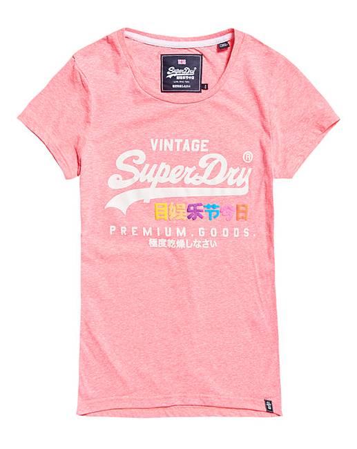 41621a87d8c SuperDry Pink Print Tshirt