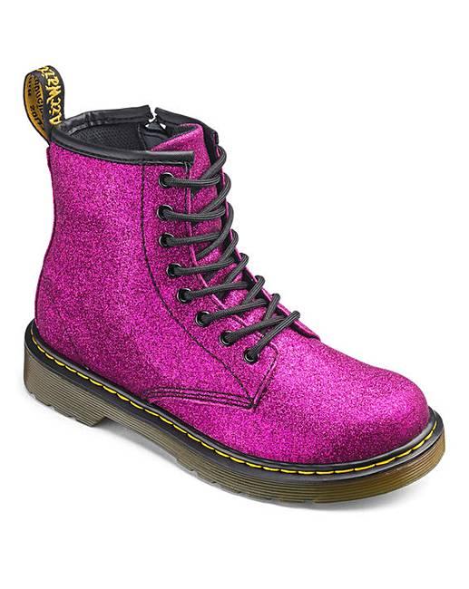 1df63c0acd37 Dr Martens Delaney Lace Boots Glitter | J D Williams