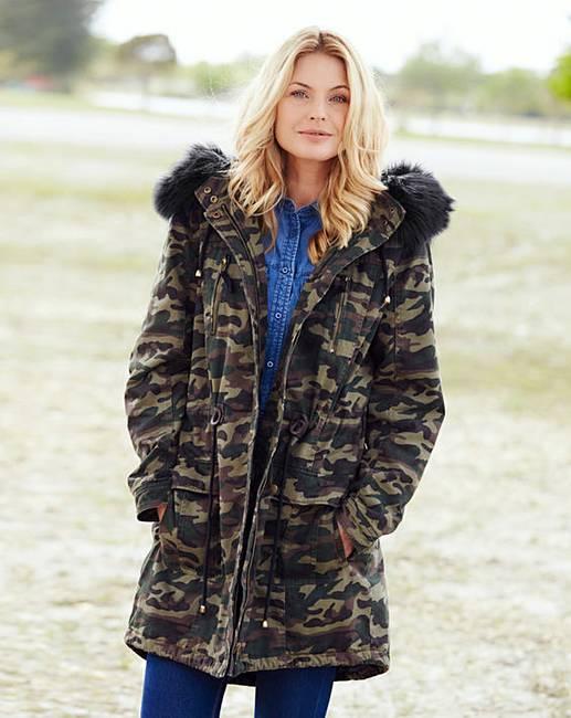 17015a845b8dd Camouflage Cotton Parka | J D Williams