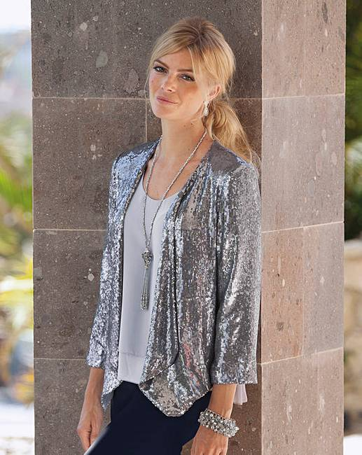 369bdc15 TOGETHER SEQUIN WATERFALL JACKET | J D Williams
