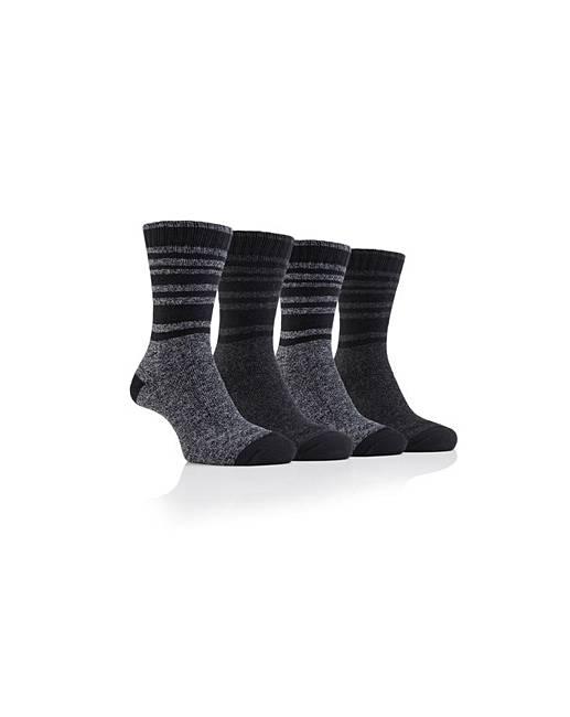 4 Pack Cotton Blend Boot Socks