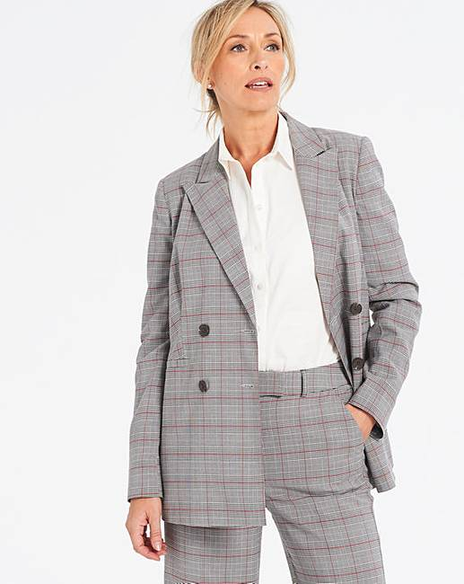 baba3cd3 Double Breasted Checked Blazer | Oxendales