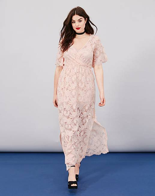 bb8f662deed Simply Be Lace Wrap Maxi Dress