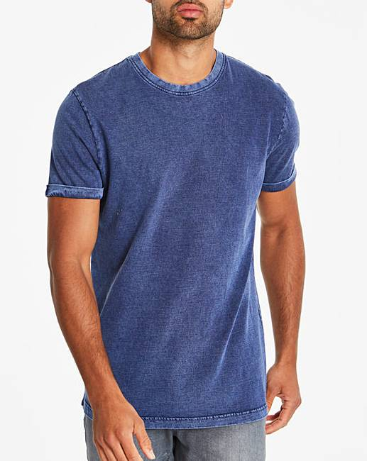 4826cf0d Washed Muscle Fit T-Shirt | Jacamo
