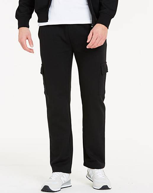 c46974a49f81f5 Capsule Black Cargo Trousers 27in | Jacamo