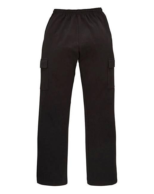 Capsule Black Cargo Trousers 27in  573b74e9490