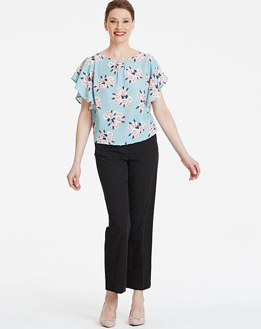 e1e22b69 Green Floral Bubble Hem Blouse | Oxendales