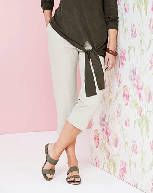 dea923e3dfe Linen Rich Crop Trousers