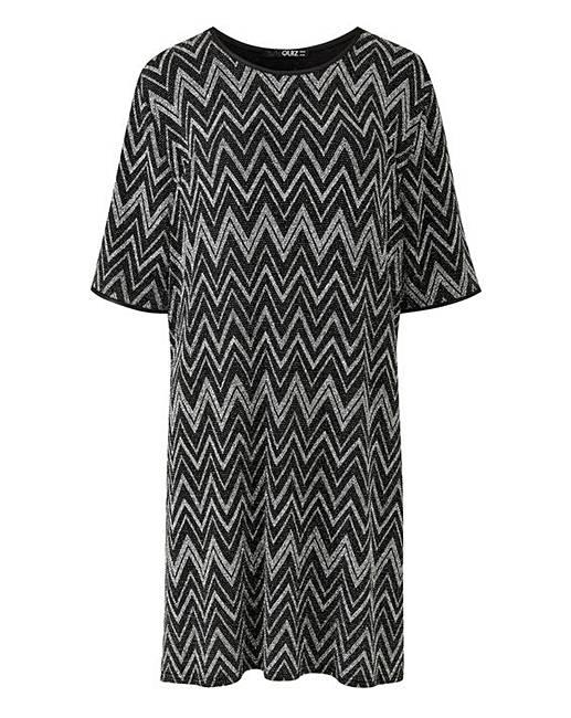 694636b9ed Quiz Curve Glitter T-Shirt Dress