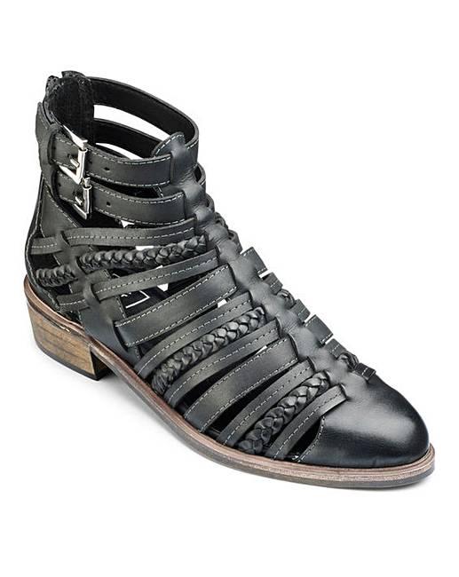 fbe63e12e24 Sole Diva Strappy Ankle Boot E Fit