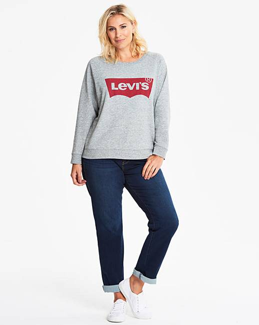 0a47ca66 Levi's Relaxed Graphic Crew Neck Sweater | J D Williams