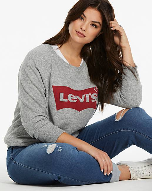 8a700edd Levi's Relaxed Graphic Crew Neck Sweater   Simply Be