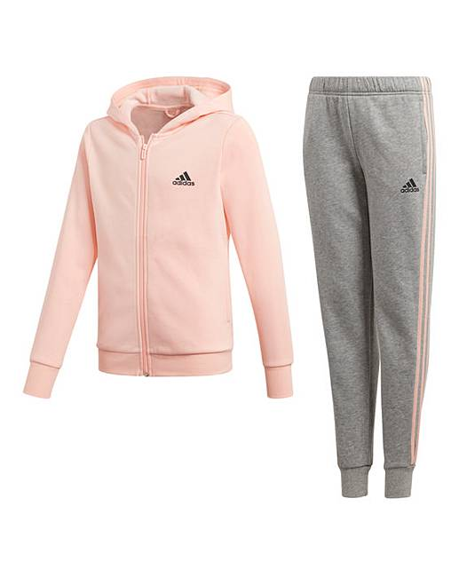 8b9c7486735b Adidas Younger Girls Hooded Tracksuit