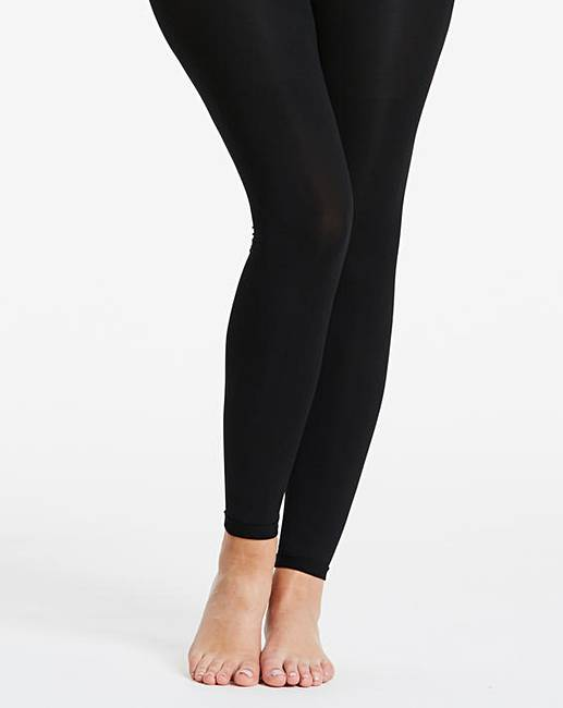 a7454592aed6f 200 Denier Footless Black Opaque Tights | Simply Be