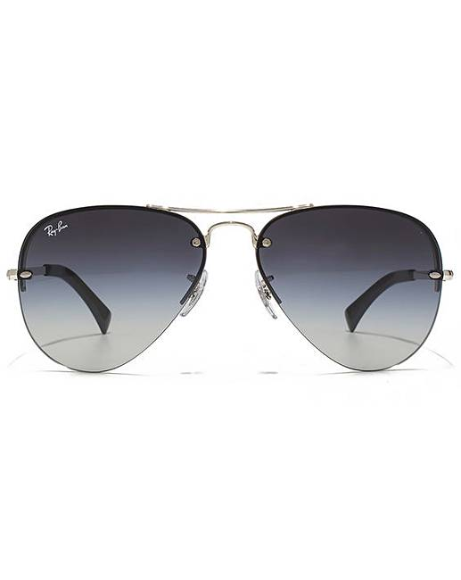 e451dd5f2ee7 Ray-Ban Rimless Aviator Sunglasses | Simply Be