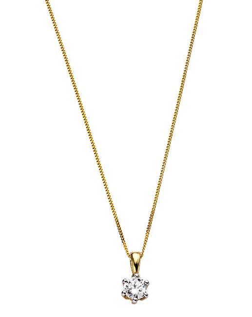 9 carat gold 12 carat diamond pendant j d williams 9 carat gold 12 carat diamond solitaire pendant mozeypictures Image collections