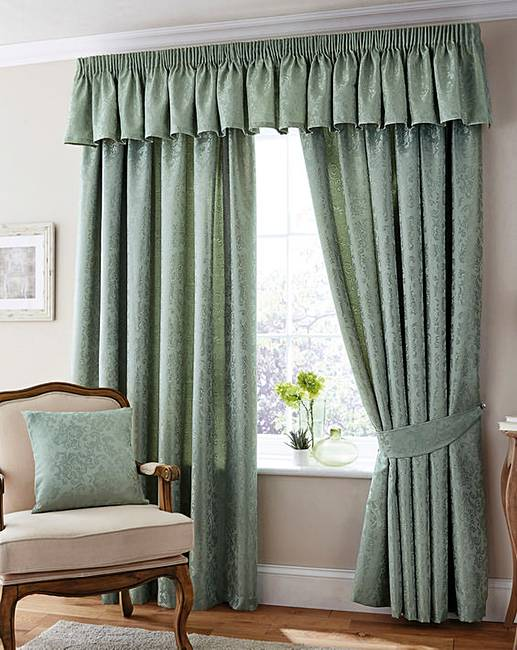 Damask Living Room Decor: Damask Lined Curtains
