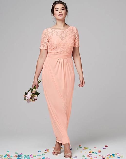 Ity Lace Bodice Maxi Dress Simply Be