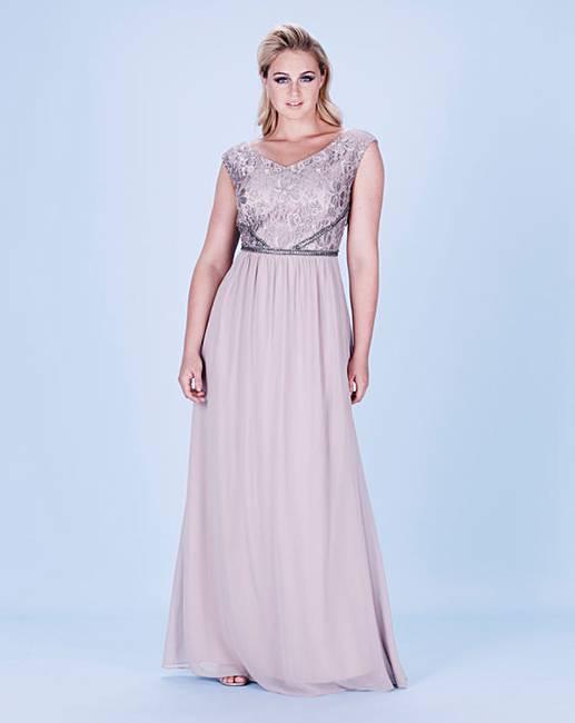 0e52ff7191 Little Mistress Lace Maxi Dress
