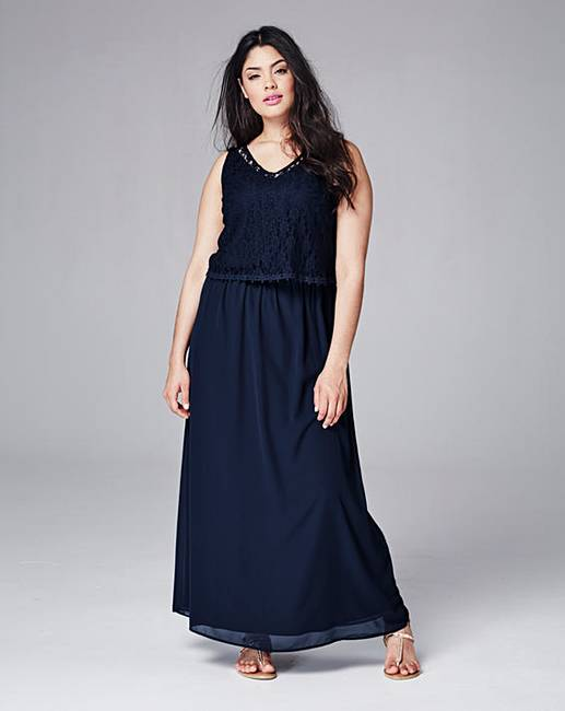 497b54cb76d Junarose Lace Top Maxi Dress