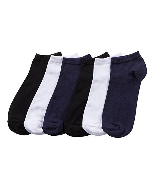 41f55b561db7d Pack of 6 Mix Trainer Socks | J D Williams