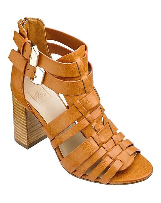 7a1a3a099119 Sole Diva Block Heel Sandals EEE Fit
