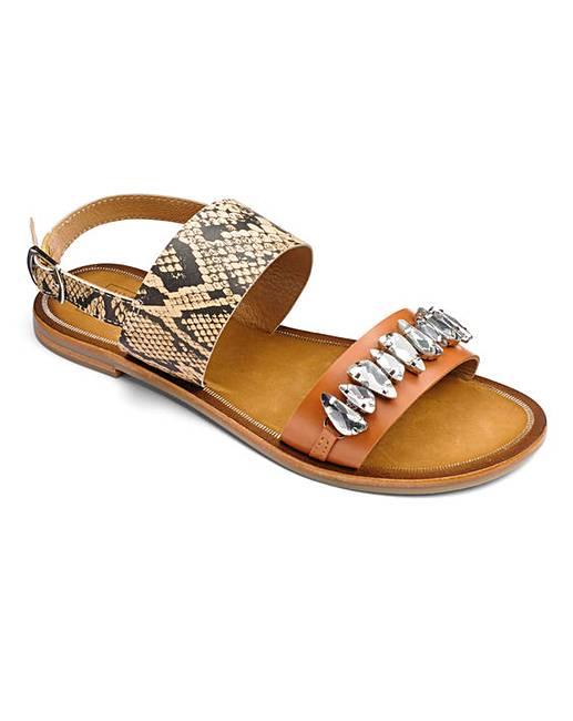 9a5c36a8a6fc Sole Diva Jewelled Sandals E Fit