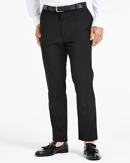 72b5e451 Black Slim Fit Stretch Trousers   Jacamo