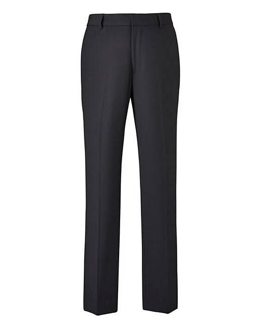 85e7f1261b82 Black Slim Fit Stretch Trousers | J D Williams