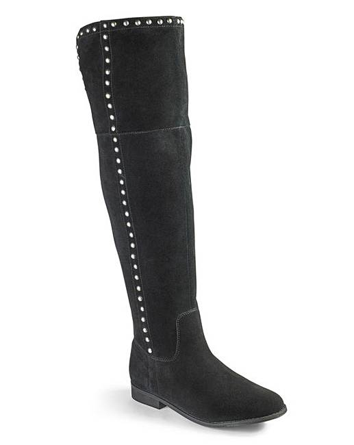 7bdb315375a Sole Diva Studded Boots E Fit