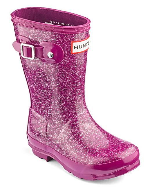 d86cdaf8b473 Hunter Original Glitter Finish Boots   J D Williams