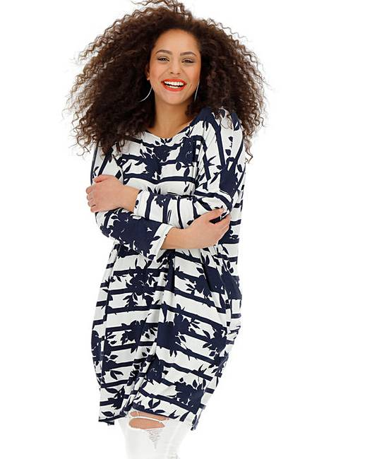 b8a935f5494 Stripe Side Pocket Tunic | Simply Be