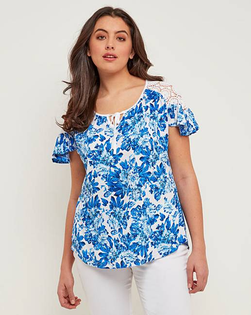 New Joe Browns Lace Trim Top for cheap