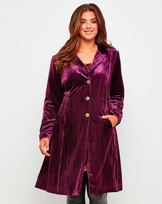Joe Browns Velvet Coat by Simply Be