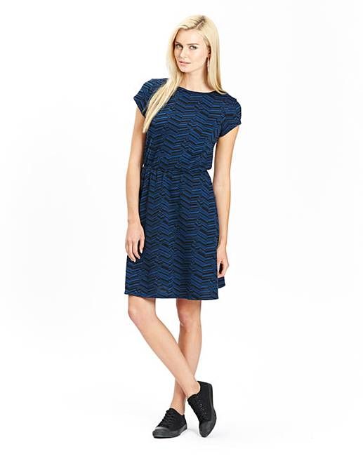 Jersey Jacquard Skater Dress  9a459014b