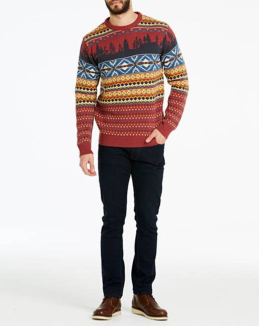 34c33be07f548 Joe Browns Fairisle Christmas Jumper. Click to view 'Joe Browns' products.  Rollover image to magnify