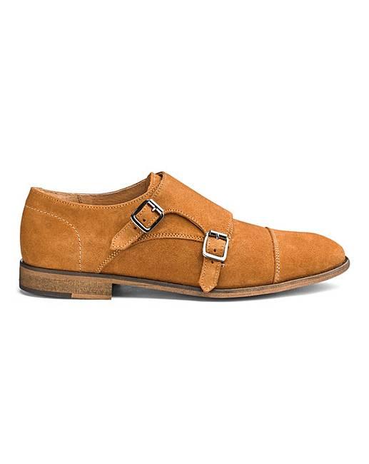 13d472d830a7d Premium Suede Monk Shoes | Jacamo