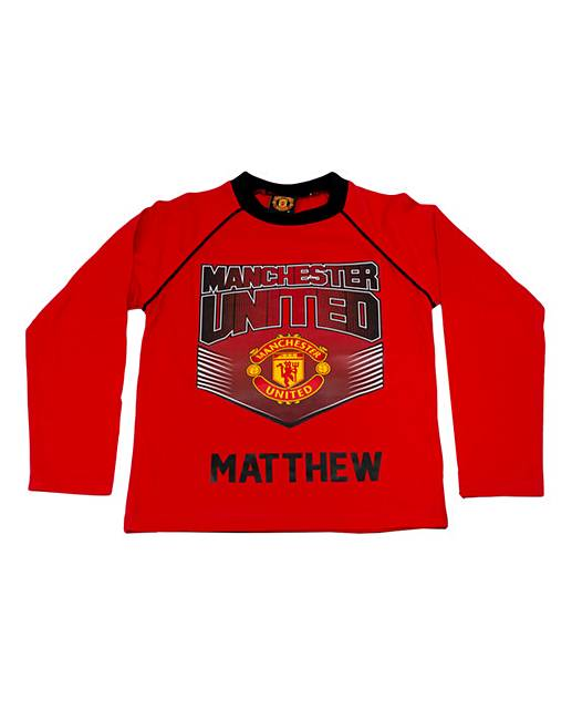 discount price buy popular factory outlets Personalised Children's Man United Pjs