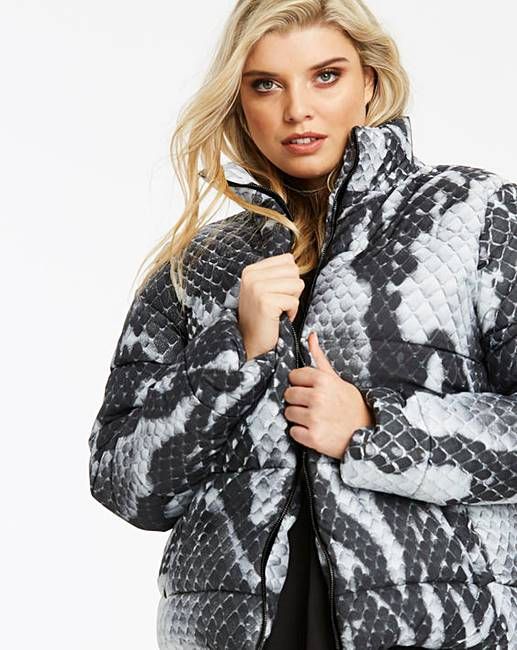 36bdd888237e Lasula Snake Printed Puffer Jacket