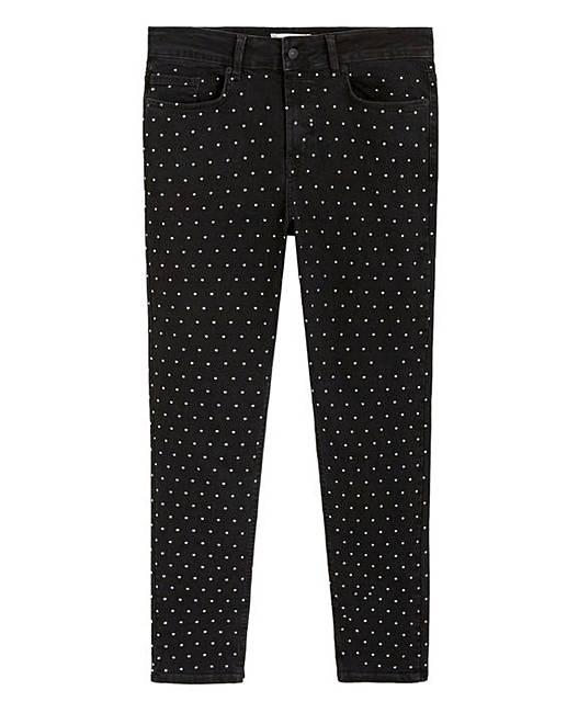 bc0eebe738f8e0 Violeta By Mango Studded Jeans | J D Williams