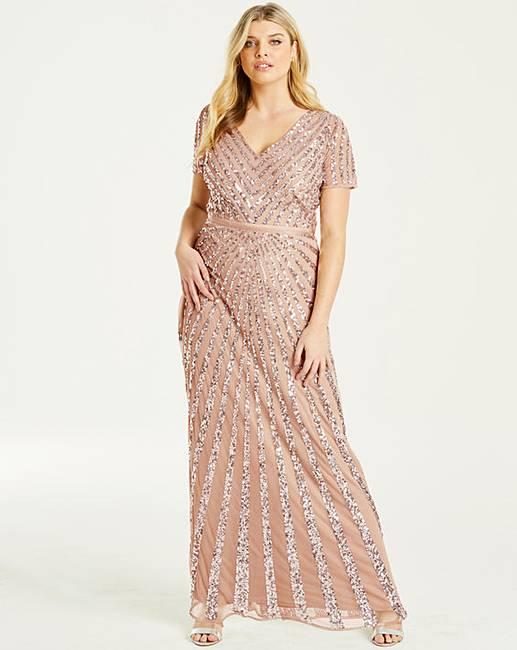 25e73571 Maya Curve Sequin Maxi Dress | J D Williams